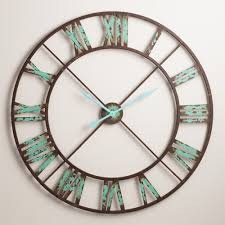 industrial reed wall clock everything turquoise