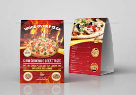 pizza restaurant table tent template vol 2 by owpictures