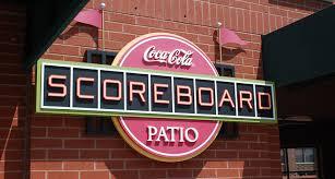 coca cola scoreboard patio st louis cardinals