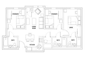 large floor plans floor plans temple housing