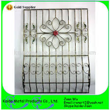 decorative wrought iron belly window grilles design for
