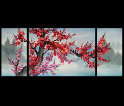 japanese cherry blossom abstract art paintings modern wall art