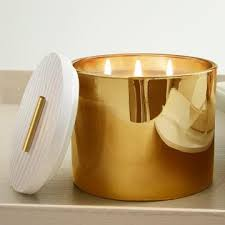 thymes candles frasier fir gold 3 wick candle by thymes prep obsessed
