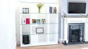 Oak Room Divider Shelves Glass Shelves Bookcase White Oak Shelving Unit Glass Shelves Room