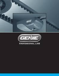 Overhead Garage Door Opener Manual by Genie Garage Door Opener 4024 User Guide Manualsonline Com
