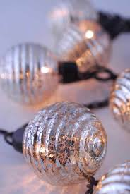 String Ball Lights by Lights Mercury Glass String Light End To End 6ft 10ct Outdoor