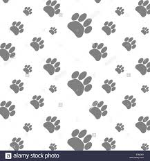 seamless patter foot print dog footprint animal background paw