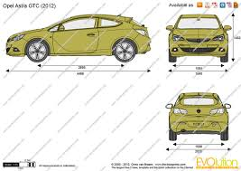 opel astra gtc 2015 the blueprints com vector drawing opel astra j gtc