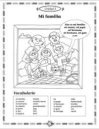 La Familia Worksheets Arcoiris Level 1 Spanish Activity Book U2013 Language Adventure