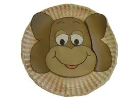 Monkey Paper Plate Craft - monkey paper plate template