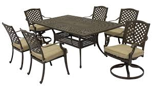 Aluminum Outdoor Patio Furniture by Patio Furniture Aluminum Somerset 7pc Rectangular Dining Set