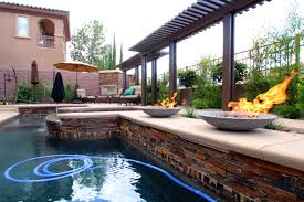 pool fire pits with pic of awesome swimming pool and spa design