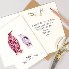 mothers day card messages personalised mother u0027s day liberty penguin card for her by bombus