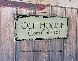 Bathroom Outhouse Decor Outhouse Sign Cowboy Bathroom Decor Western Sign Outhouse