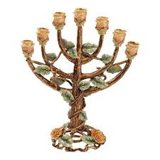 tree of menorah jeweled 7 branch menorah tree menorah