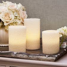 lights flameless candles pillar candles white pearl