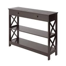 convenience concepts oxford console table convenience concepts oxford 1 drawer console table