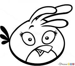 draw pink bird angry birds