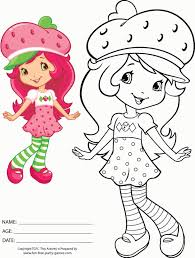 strawberry shortcake coloring pages print free 7814 gif 606