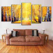 aliexpress com buy 5 pcs set landscape fall in the forest
