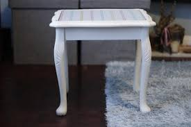 Upcycled Side Table Small White Upcycled Side Table In Newport Isle Of Wight Expired