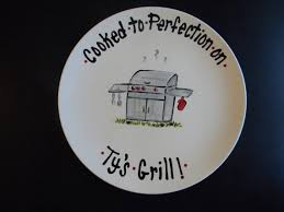personalized ceramic platters personalized bbq grill platter for or any