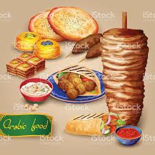 cuisine arabe cuisine arabe ensemble cliparts vectoriels et plus d images de