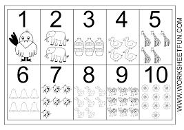 number worksheets 1 10 worksheets