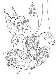 tinkerbell cook coloring free printable