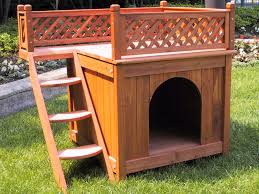 Large Igloo Dog House Clevr Dog Pet House Wood Wooden 2 Two Story Double Decker Blacony