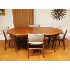Teak Dining Room Furniture by Mid Century Modern Gudme Mobelfabrik Danish Teak Dining Table U0026 4