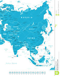 asia map no labels asia map with labels world maps