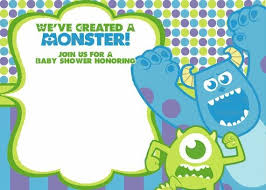 inc baby shower monsters inc baby shower invitations monsters inc baby shower
