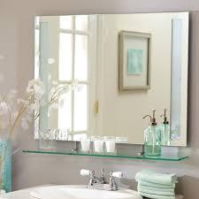 Brass Bathroom Mirrors Bathroom Frameless Mirror