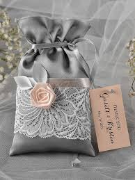 thank you wedding gifts custom listing 100 grey and wedding favor bag lace