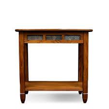 amazon com leick 10060 rustic oak chairside end table kitchen