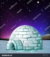 igloo scene igloo night illustration stock vector 416607070 shutterstock