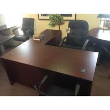 Mahogany Office Furniture by New Mahogany Small L Shape Desk Sk Office Furniture