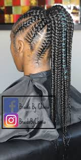 hair braided into pony tail schedule appointment with braids by chinia