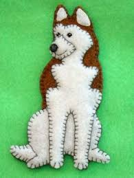 siberian husky ornament husky refrigerator magnet by justsue