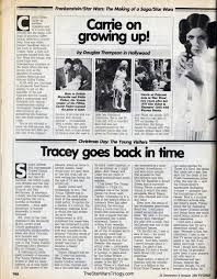 the star wars trilogy 1984 tv times interview with carrie fisher