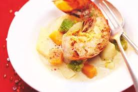 plat cuisiné picard recette de nage de langouste au chablis légumes anciens de picard