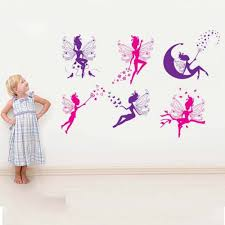 aliexpress com buy 6pcs pink purple fairy silhouette angel wall aliexpress com buy 6pcs pink purple fairy silhouette angel wall sticker decal girl room wall stickers from reliable sticker clock suppliers on