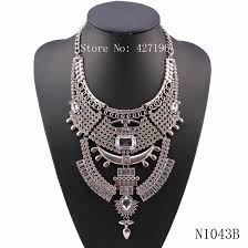 chunky necklace pendants images New arrival latest design 2018 fashion silver color crystal jpg
