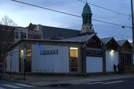 folded roof gives south philadelphia library its jaunty rhythm