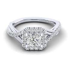 avalon wedding band avalon 14k white gold princess cut halo engagement ring