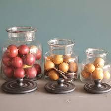 bocaux decoration cuisine série de trois bocaux de cuisine decoration rétro boutique cosy deco