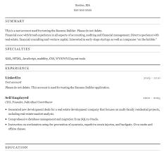Linkedin Resume Creator by Linkedin Resume Creator Template Examples