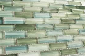 blue and green backsplash home tile glass kikiscene