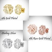 Monogramed Jewelry Jewelry U0026 Watches 18k Rose Gold Plated Monogrammed Jewelry